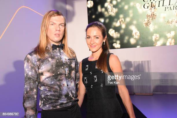 Christophe Guillarme and Emmanuelle BoidronÊ attend the Christophe Guillarme Show as part of the Paris Fashion Week Womenswear Spring/Summer 2018 on...