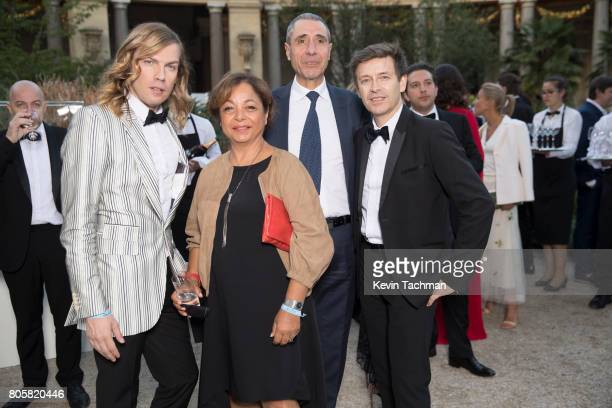 Christophe Guillarme and guests arrive for the amfAR Paris Dinner at Le Petit Palais on July 2 2017 in Paris France