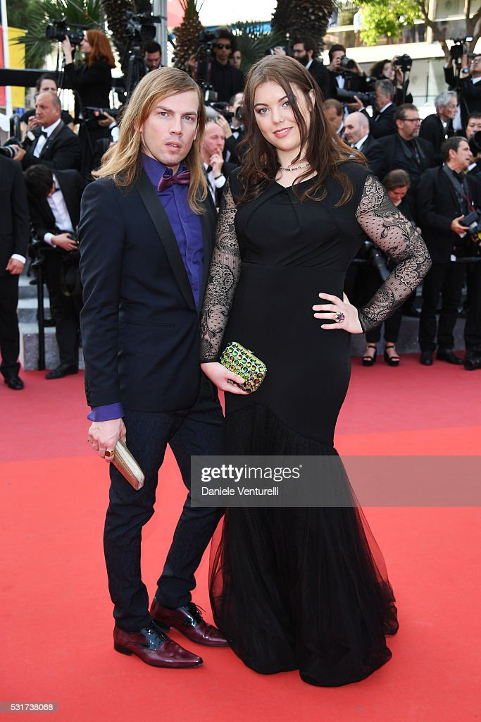 Christophe Guillarme and Heloise Martin attend the 'Loving' premiere during the 69th annual Cannes Film Festival at the Palais des Festivals on May...