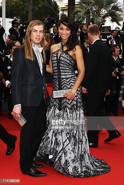 Christophe Guillarme and Miss France 2009 Cindy Fabre attends the 'Habemus Papam' premiere at the Palais des Festivals during the 64th Cannes Film...