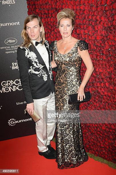 Christophe Guillarme and Natacha Amal attend the after party for 'Grace of Monaco' during the 67th Annual Cannes Film Festival on May 14 2014 in...
