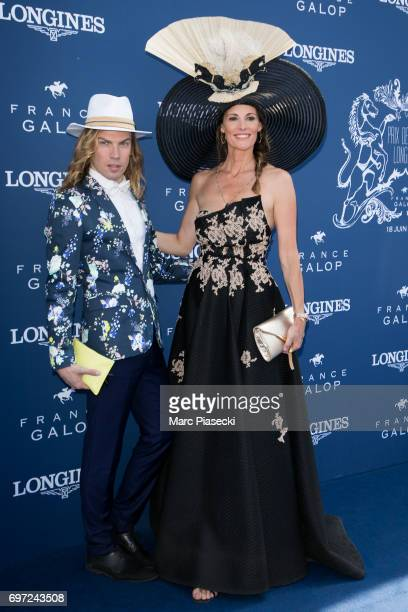 Christophe Guillarme and Sophie Thalmann attend the 'Prix de Diane Longines 2017' on June 18 2017 in Chantilly France