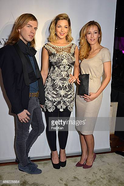 Christophe Guillarme Eleonore Boccara and Mayshad Luxury founder Nezha Alaoui attend the 'Mayshad Luxury Bag BFF' Launch Party At Park Hyatt Vendome...
