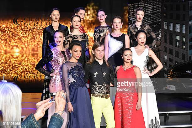 Christophe Guillarme Priscilla Betti and models walk the runway during the Christophe Guillarme show as part of the Paris Fashion Week Womenswear...