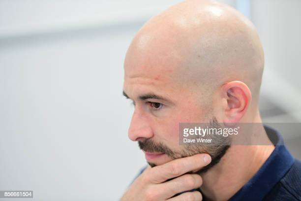 Christophe Jallet of France during the press conference at Centre National du Football on October 2 2017 in Clairefontaine en Yvelines France
