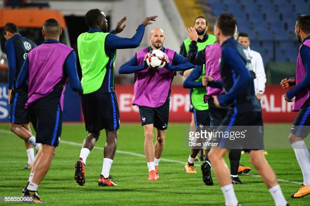 Christophe Jallet of France during the training session of the France football team ahead the World Cup qualifying match against Bulgaria on October...