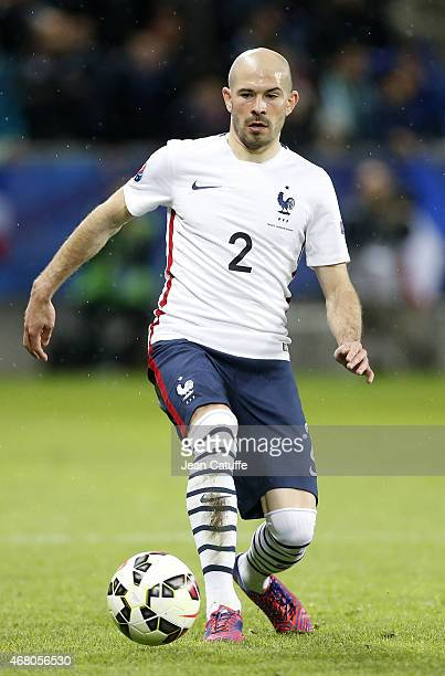 Christophe Jallet of France in action during the international friendly match between France and Denmark at Stade GeoffroyGuichard on March 29 2015...