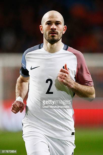 Christophe Jallet of France in action during the International Friendly match between Netherlands and France at Amsterdam Arena on March 25 2016 in...