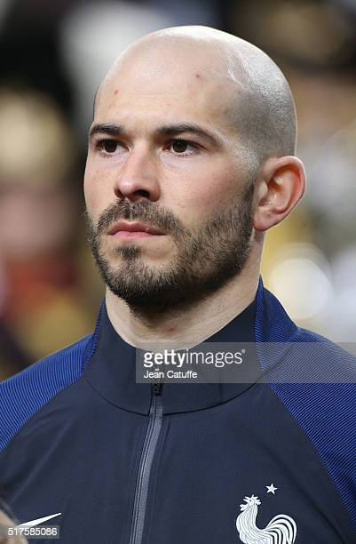 Christophe Jallet of France looks on before the international friendly match between Netherlands and France at Amsterdam Arena on March 25 2016 in...