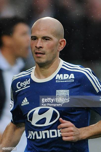 Christophe Jallet of Lyon in action during the French Ligue 1 match between FC Metz and Olympique Lyonnais at Stade SaintSymphorien on August 31 2014...