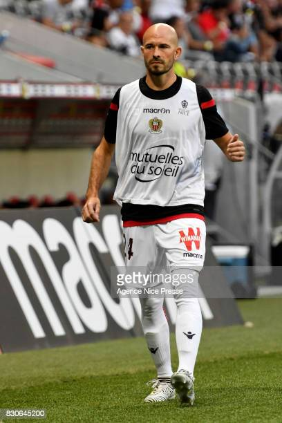 Christophe Jallet of Nice during the Ligue 1 match between OGC Nice and Troyes Estac at Allianz Riviera on August 11 2017 in Nice