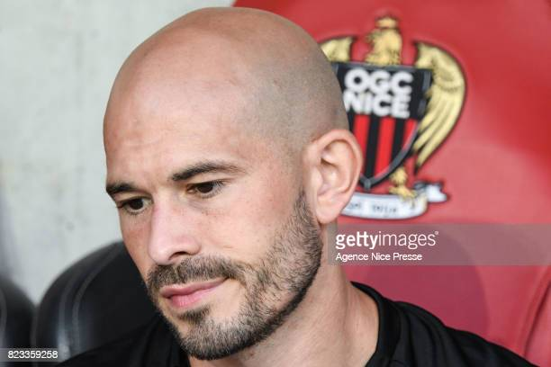 Christophe Jallet of Nice during the UEFA Champions League Qualifying match between Nice and Ajax Amsterdam at Allianz Riviera Stadium on July 26...