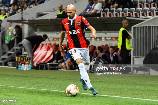 Christophe Jallet of Nice during the Uefa Europa League match between OGC Nice and Vitesse Arnhemon September 28 2017 in Nice France