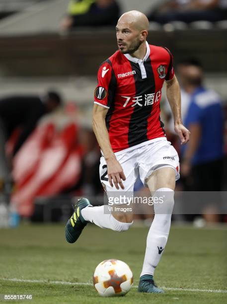 Christophe Jallet of OCG Nice during the UEFA Europa League group K match match between OGC Nice and Vitesse Arnhem on September 28 2017 at the...