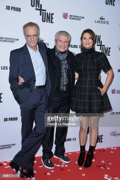 Christophe Lambert Claude Lelouch and Alice Pol attend The 'Un Une' Paris Premiere At Cinema UGC Normandie on November 23 2015 in Paris France