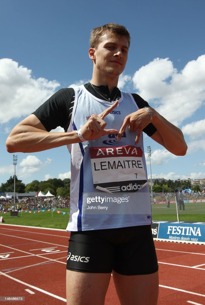 <a gi-track='captionPersonalityLinkClicked' href=/galleries/search?phrase=Christophe+Lemaitre+-+Sprinter&family=editorial&specificpeople=5431868 ng-click='$event.stopPropagation()'>Christophe Lemaitre</a> of France wins the 100m final during the 2012 French Elite Athletics Championships at the Stade du Lac de Maine on June 16, 2012 in Angers, France.