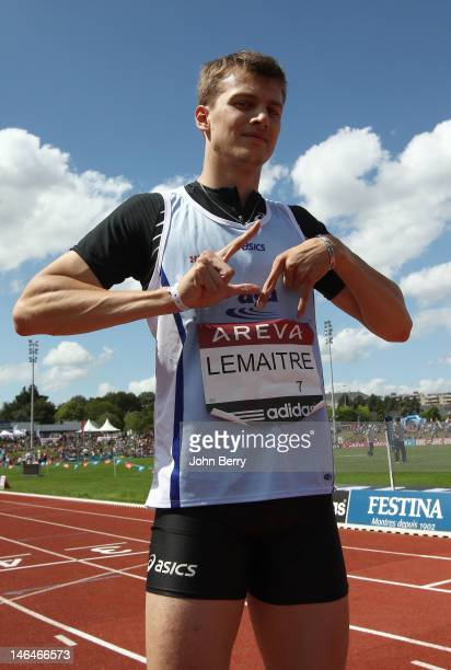 Christophe Lemaitre of France wins the 100m final during the 2012 French Elite Athletics Championships at the Stade du Lac de Maine on June 16 2012...
