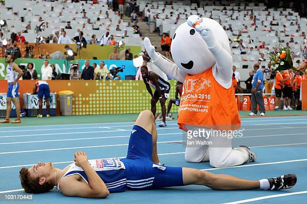 Christophe Lemaitre of France wins the gold medal in the Mens 200m Final during day four of the 20th European Athletics Championships at the Olympic...