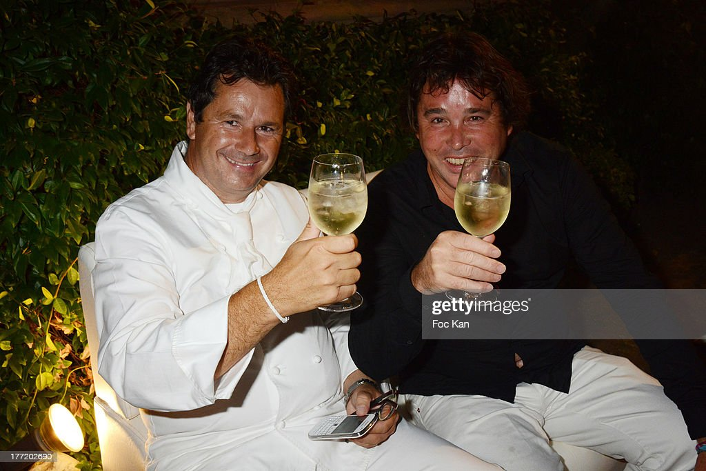 Christophe Leroy and Didier Audebert attend the Massimo Gargia's Birthday Dinner at Moulins de Ramatuelle on August 21, 2013 in Saint Tropez, France.
