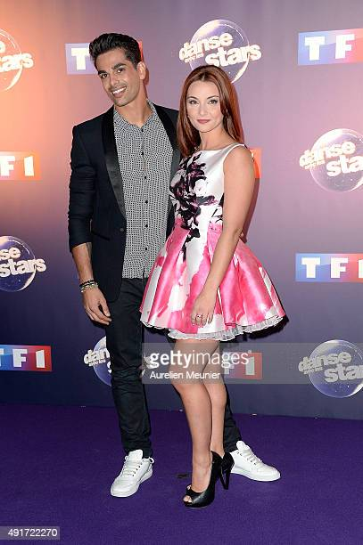 Christophe Licata and Priscilla Betti pose during the 'Dances With The Stars' photocall on October 7 2015 in Paris France