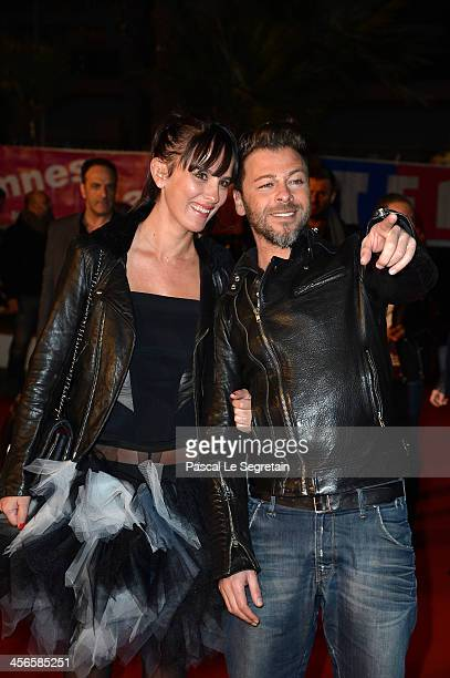 Christophe Mae and Nadege Sarron attend the 15th NRJ Music Awards at Palais des Festivals on December 14 2013 in Cannes France