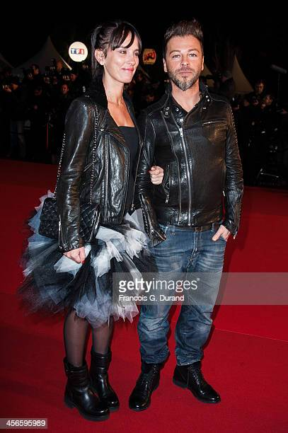 Christophe Mae and Nadege Sarron attends the 15th NRJ Music Awards at Palais des Festivals on December 14 2013 in Cannes France