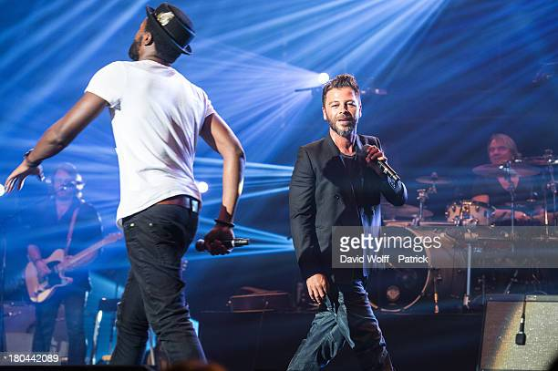 Christophe Mae performs at L'Olympia on September 12 2013 in Paris France