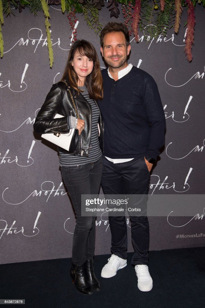 Christophe Michalak and Delphine McCarty attend the French Premiere of 'mother!' at Cinema UGC Normandie on September 7, 2017 in Paris, France.