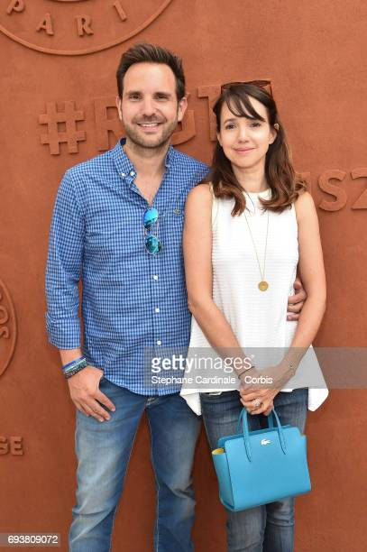 Christophe Michalak and his Wife Delphine Michalak attend the French Tennis Open 2017 Day Twelve at Roland Garros on June 8 2017 in Paris France