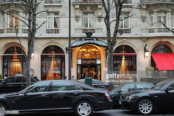 'Christophe Michalak from junk food to prized pastry chef' Picture taken on March 04 2008 in Paris shows the facade of the luxury hotel Le Plaza...