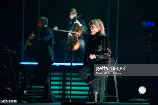 Christophe performs at Salle Pleyel on February 1 2017 in Paris France