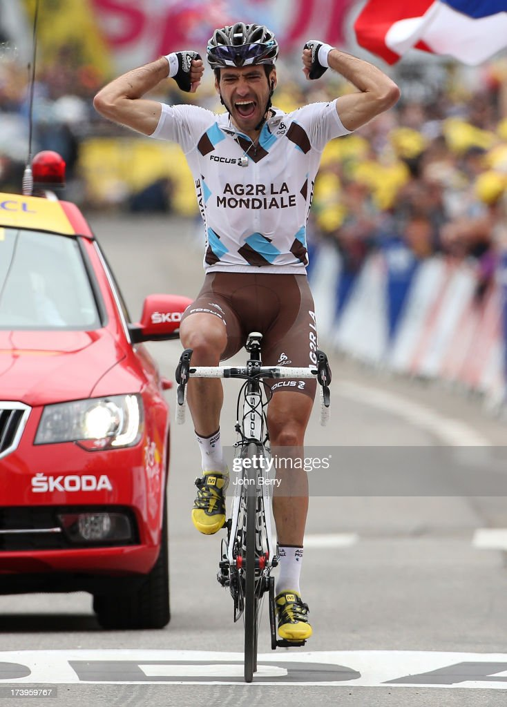 Christophe Riblon of France and Team AG2R La Mondiale wins stage eighteen of the 2013 Tour de France, a 172.5KM road stage from Gap to l'Alpe d'Huez, on July 18, 2013 in Alpe d'Huez, France.
