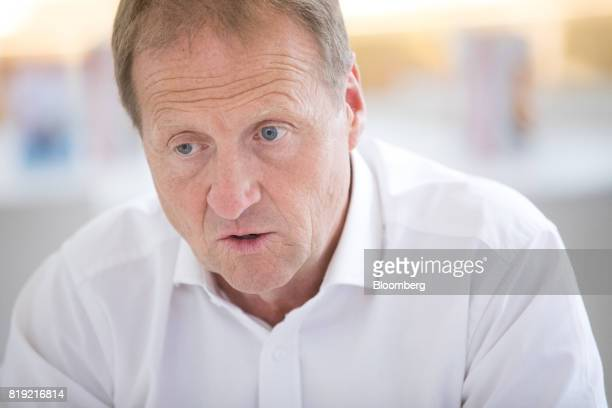 Christophe Sapet chief executive officer of Navya Technologies SAS speaks during an interview in La Defense district of Paris France on Wednesday...