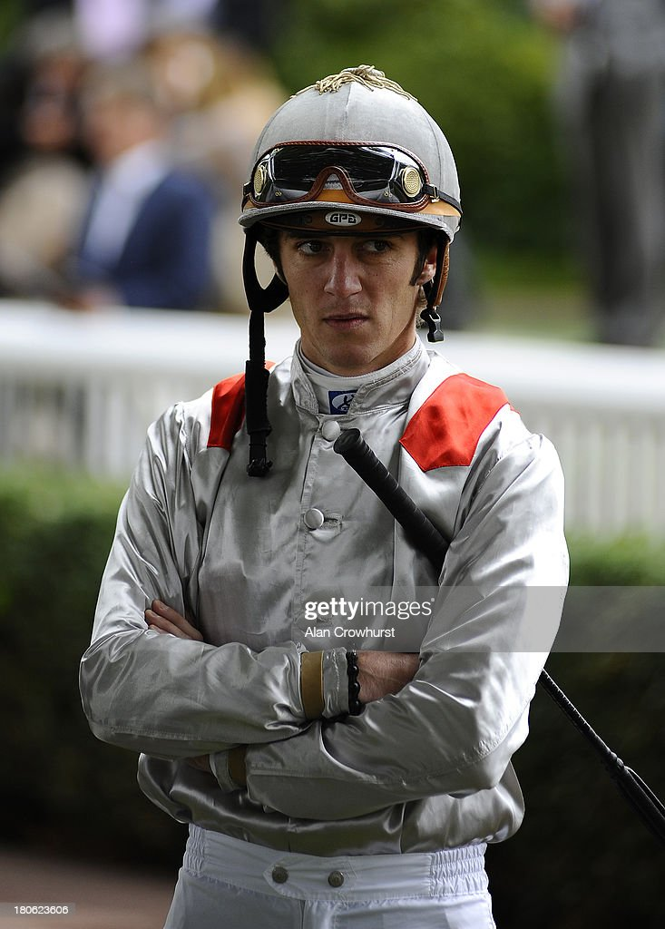 <a gi-track='captionPersonalityLinkClicked' href=/galleries/search?phrase=Christophe+Soumillon&family=editorial&specificpeople=453308 ng-click='$event.stopPropagation()'>Christophe Soumillon</a> poses at Longchamp racecourse on September 15, 2013 in Paris, France.