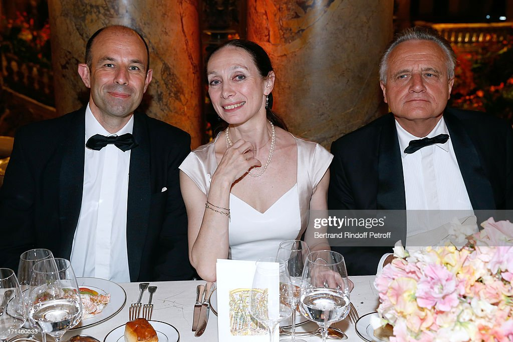 Christophe Tardieu, Director of School Dance of Opera de Paris Elisabeth Platel and Philippe Villin attend Gala of AROP at Opera Garnier with representation of 'La Sylphide' on June 24, 2013 in Paris, France.