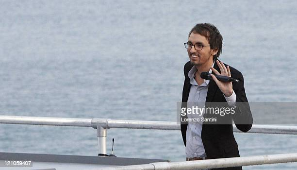 Christophe Willem attends Le Grand Journal of Canal Plus during the 2008 Festival de Cannes on May 16 2008 in Cannes France