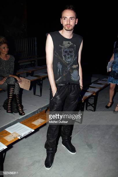 Christophe Willem attends the John Galliano show as part of Paris Menswear Fashion Week Spring/Summer 2011 on June 25 2010 in Paris France