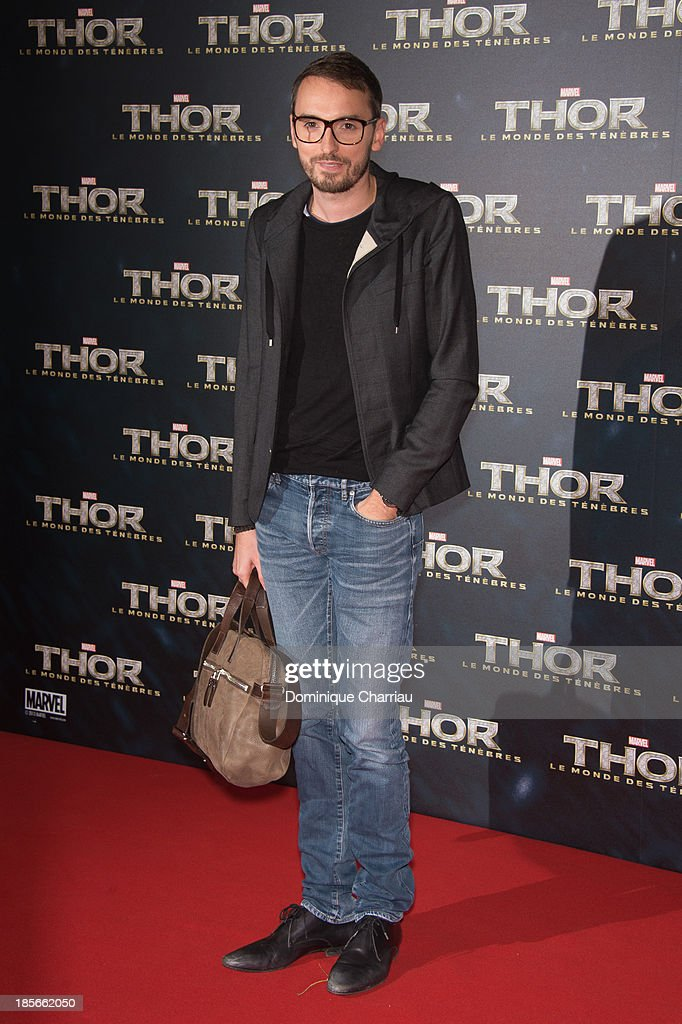 <a gi-track='captionPersonalityLinkClicked' href=/galleries/search?phrase=Christophe+Willem&family=editorial&specificpeople=4350434 ng-click='$event.stopPropagation()'>Christophe Willem</a> attends the 'Thor: The Dark World' Paris Premiere at Le Grand Rex on October 23, 2013 in Paris, France.