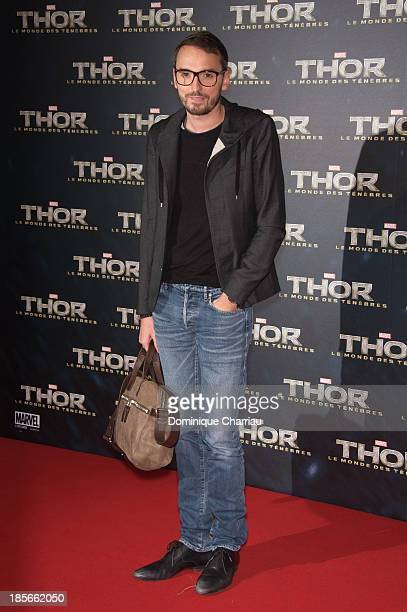 Christophe Willem attends the 'Thor The Dark World' Paris Premiere at Le Grand Rex on October 23 2013 in Paris France