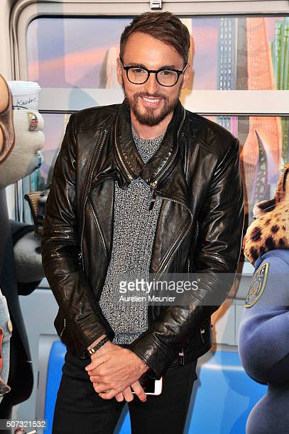 Christophe Willem attends the 'Zootopie' Paris premiere at Gaumont Champs Elysees on January 28 2016 in Paris France