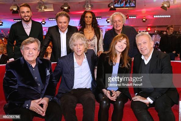 Christophe Willem Michel Drucker Karine Silla Didier Barbelivien Jacques Leibowitch Bob Geldof Carla Bruni and JeanPaul Gaultier attend the 'Vivement...