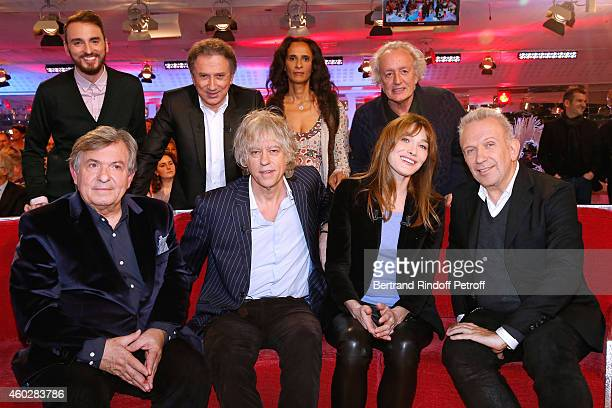 Christophe Willem Michel Drucker Karine Silla Didier Barbelivien Jacques Leibowitch Bob Geldof Carla Bruni and JeanPaul Gaultier attend the 'Vivement...