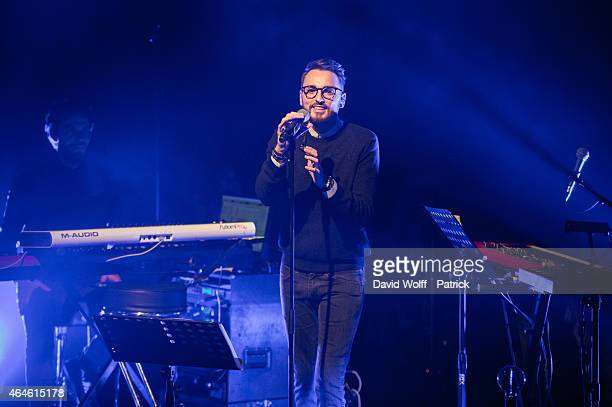 Christophe Willem performs at Institut du Monde Arabe on February 26 2015 in Paris France