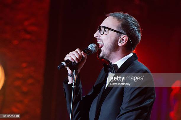 Christophe Willem performs during Francofolies New York A Tribute To Edith Piaf at Beacon Theatre on September 19 2013 in New York City