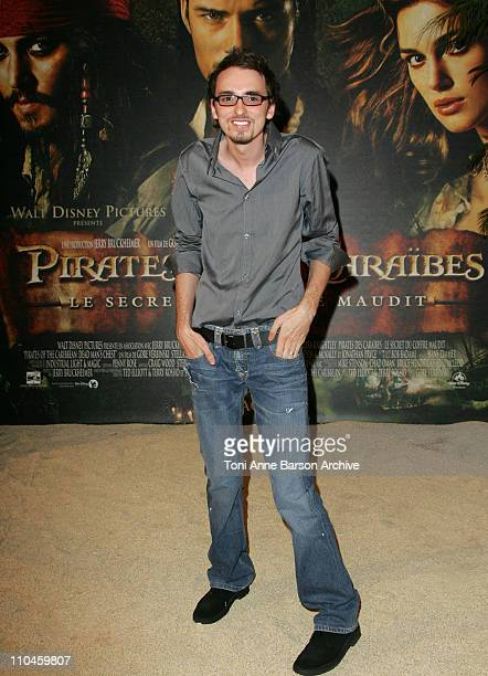 Christophe Willem Winner of 'La Nouvelle Star' during 'Pirates of The Caribbean Dead Man's Chest' Paris Premiere at Gaumont Marignan Theater in Paris...