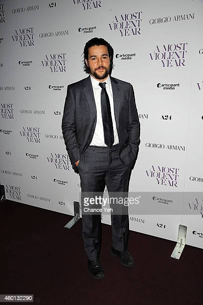 Christopher Abbott attends 'A Most Violent Year' New York Premiere at Florence Gould Hall on December 7 2014 in New York City