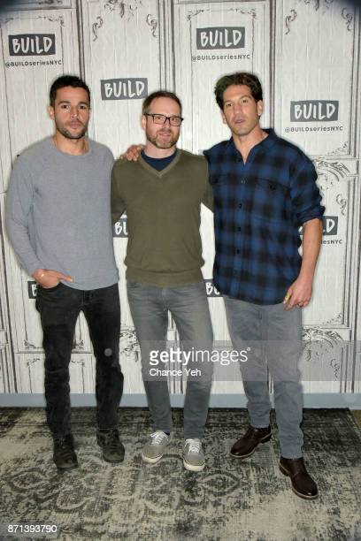 Christopher Abbott Jamie M Dagg and Jon Bernthal attend Build series to discuss 'Sweet Virginia' at Build Studio on November 7 2017 in New York City