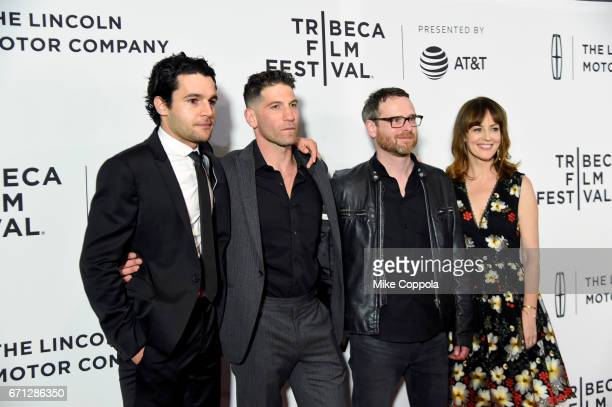 Christopher Abbott Jon Bernthal Jamie M Dagg and Rosemarie DeWitt attend the 'Sweet Virginia' Premiere during 2017 Tribeca Film Festival at Cinepolis...