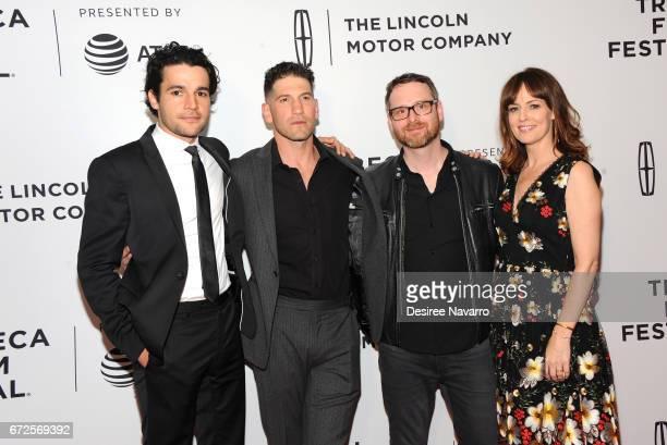 Christopher Abbott Jon Bernthal Jamie M Dagg and Rosemarie DeWitt attend 2017 Tribeca Film Festival 'Sweet Virginia' at Cinepolis Chelsea on April 21...