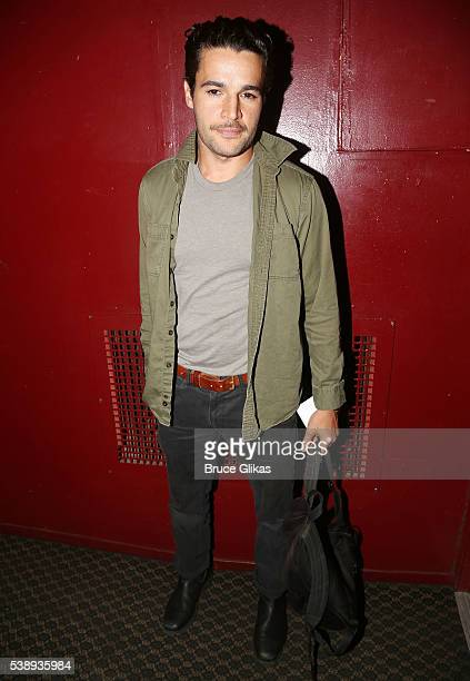 Christopher Abbott poses at The Opening Night of MCC Theater's 'A Funny Thing Happened on the Way to the Gynecologic Oncology Unit at Memorial...